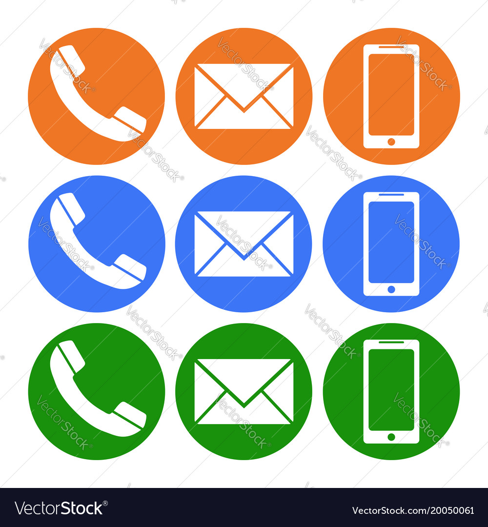 Phone Sms Message Telephone Icon Flat Royalty Free Vector