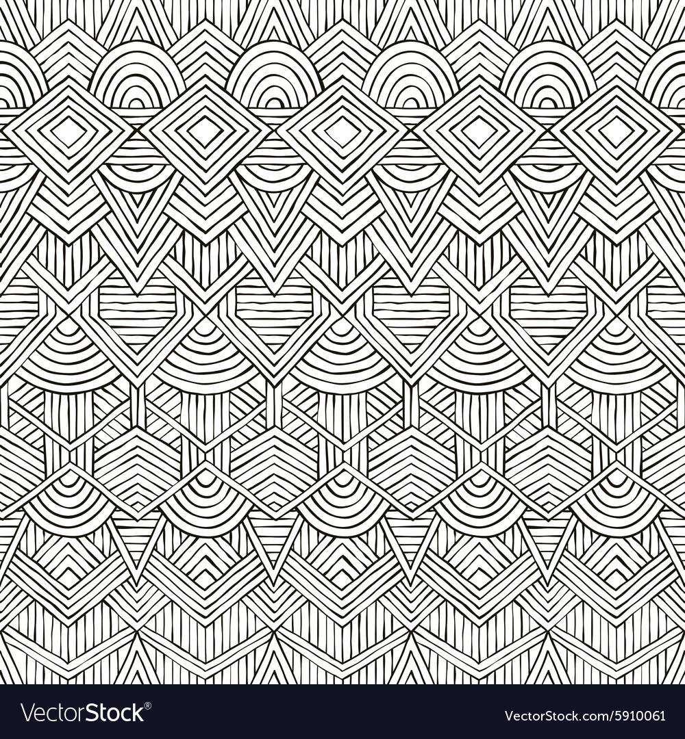 Seamless tribal pattern Hand-drawn