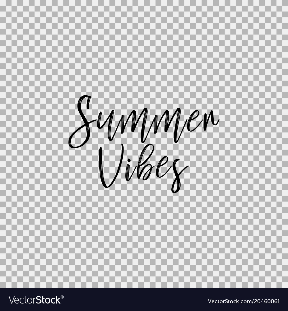 Summer vibes transparent background Royalty Free Vector