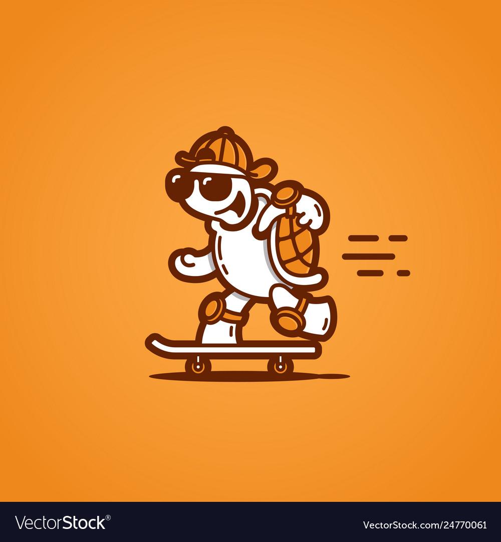 Turtle on a skateboard