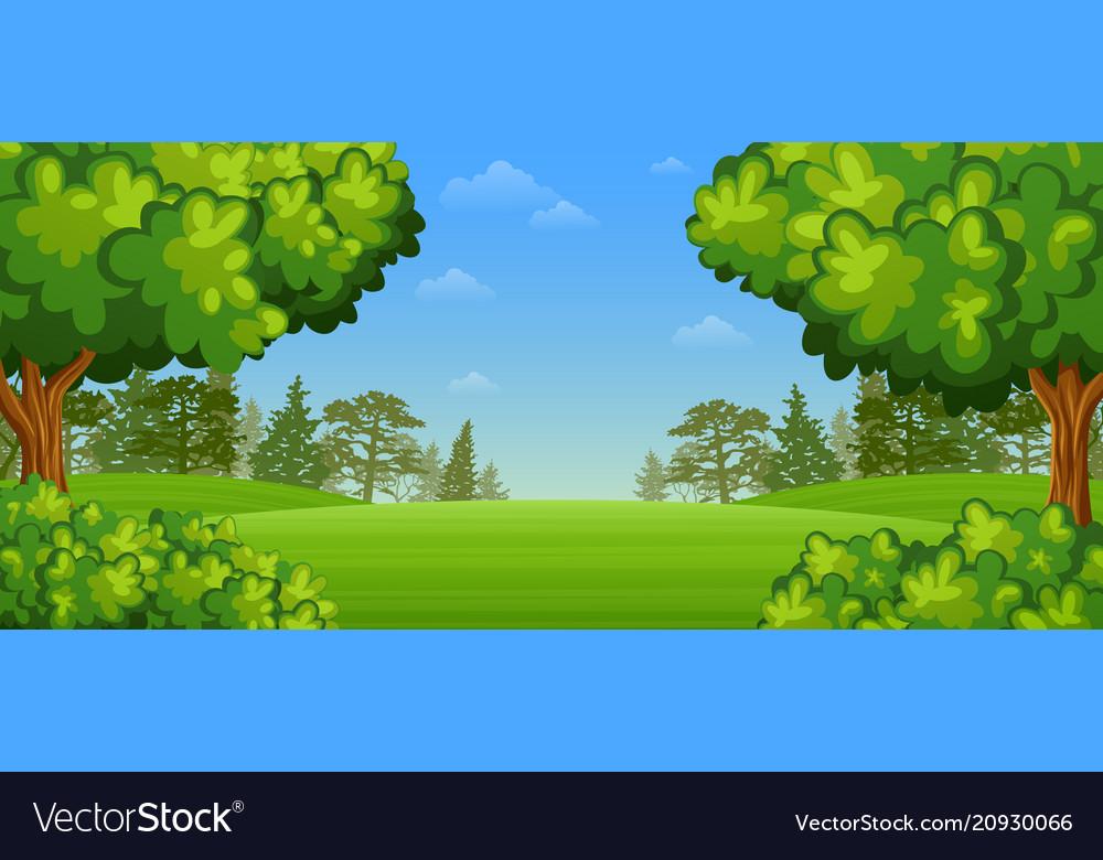 Beautiful summer landscape vector image