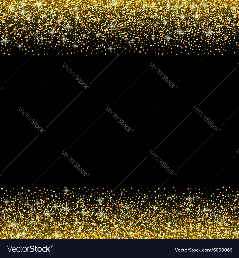 Black background with gold glitter sparkle