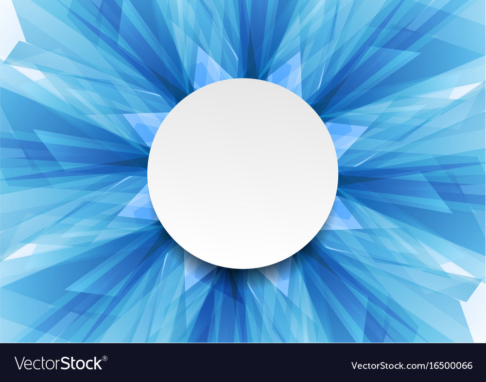 blue bright abstract tech geometric shapes design vector image