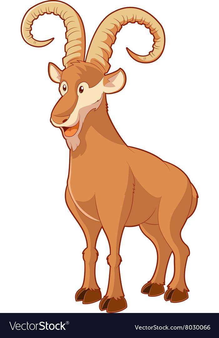 Cartoon smiling goat