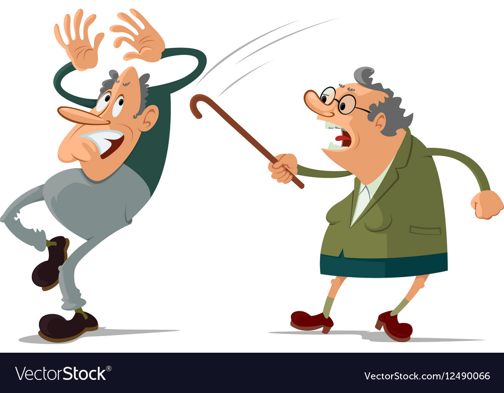 Elderly couple quarrel vector image