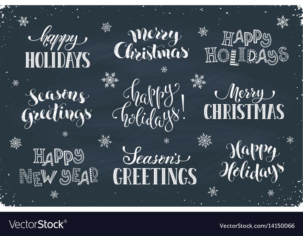 Happy holidays phrases