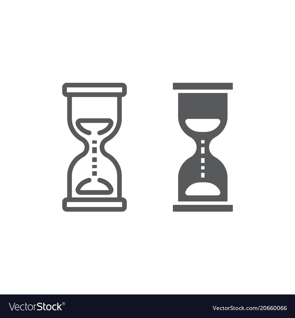 Hourglass line and glyph icon development