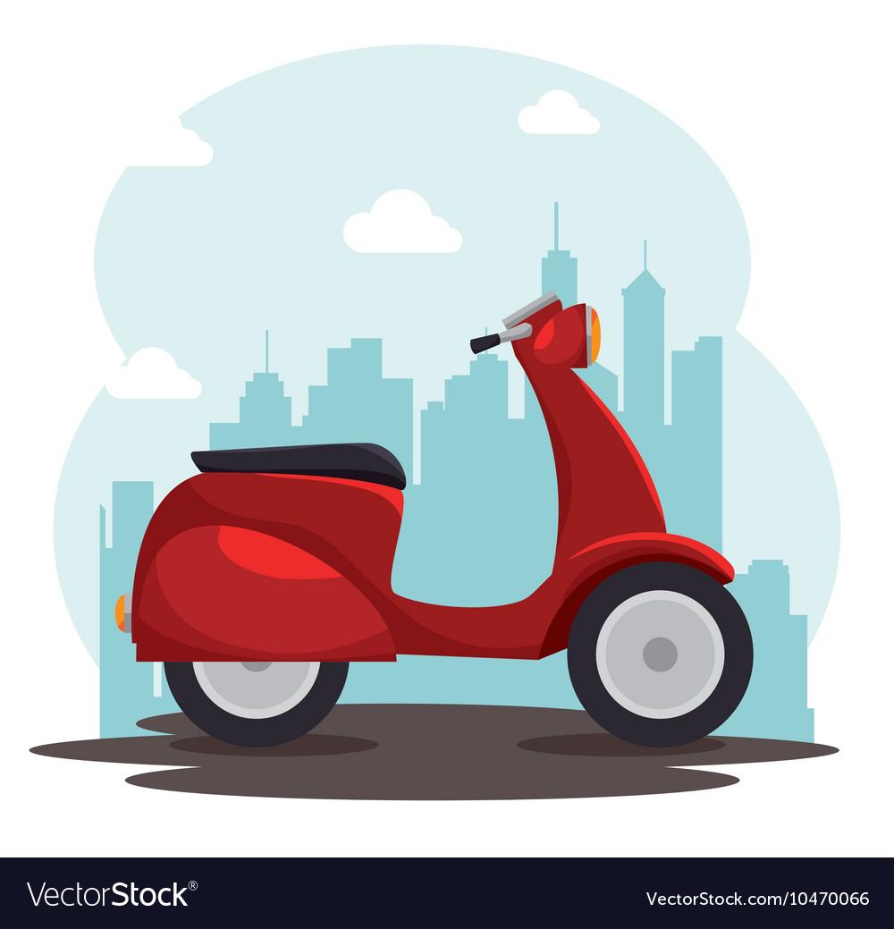 Scooter bike italian isolated icon vector image