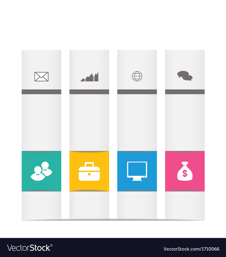 Set business label with infographics icons