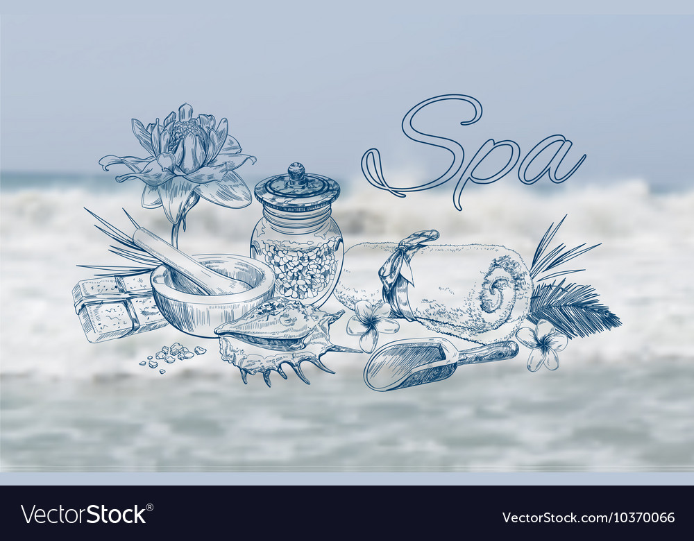 Spa treatment banner vector image