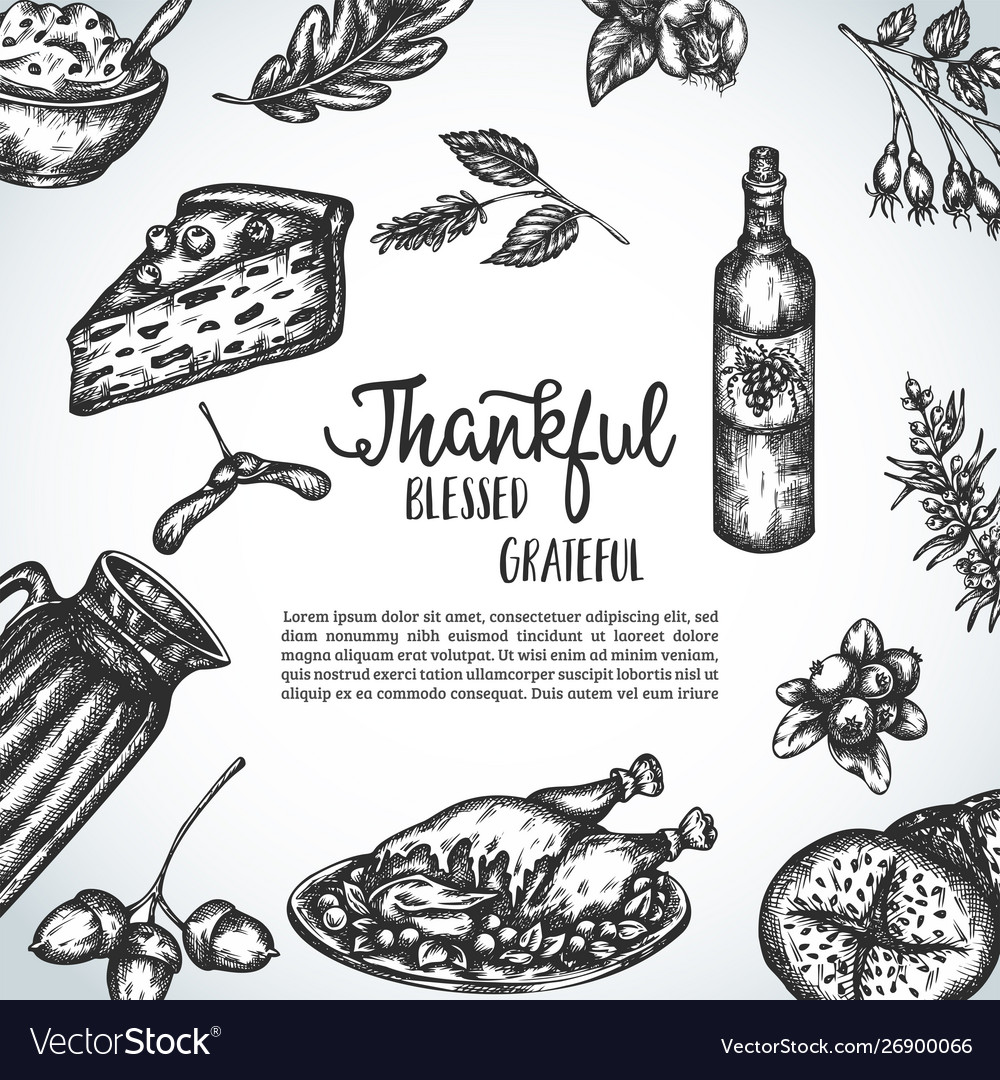 Thanksgiving day background collection hand
