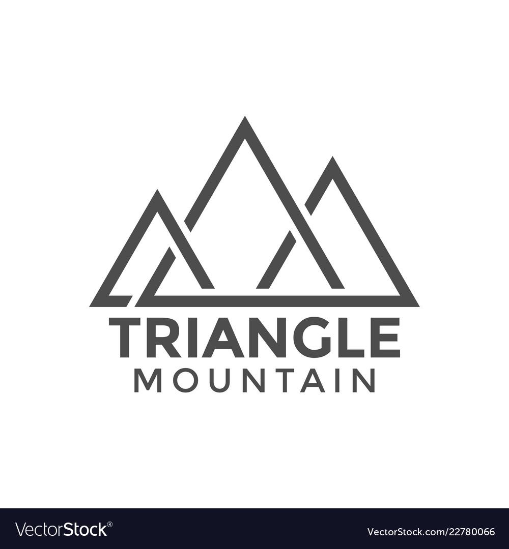 Triangle mountain graphic design template