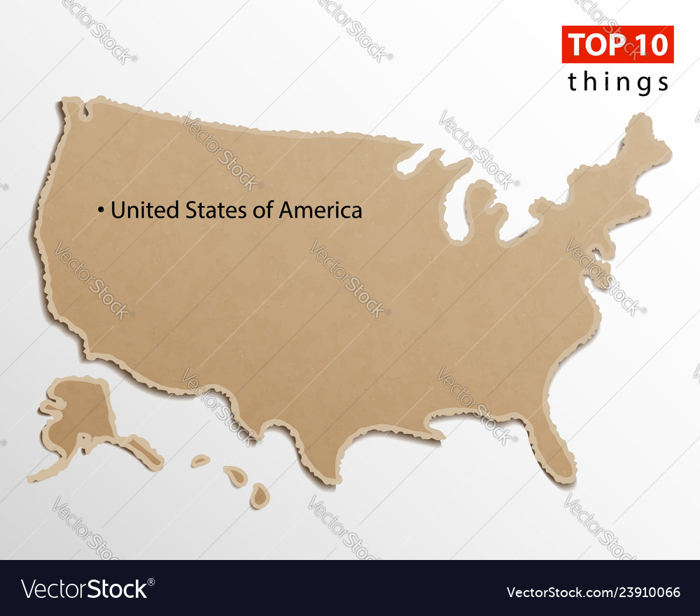 States Of America On Map.United States Of America Map Usa Maps Craft Vector Image