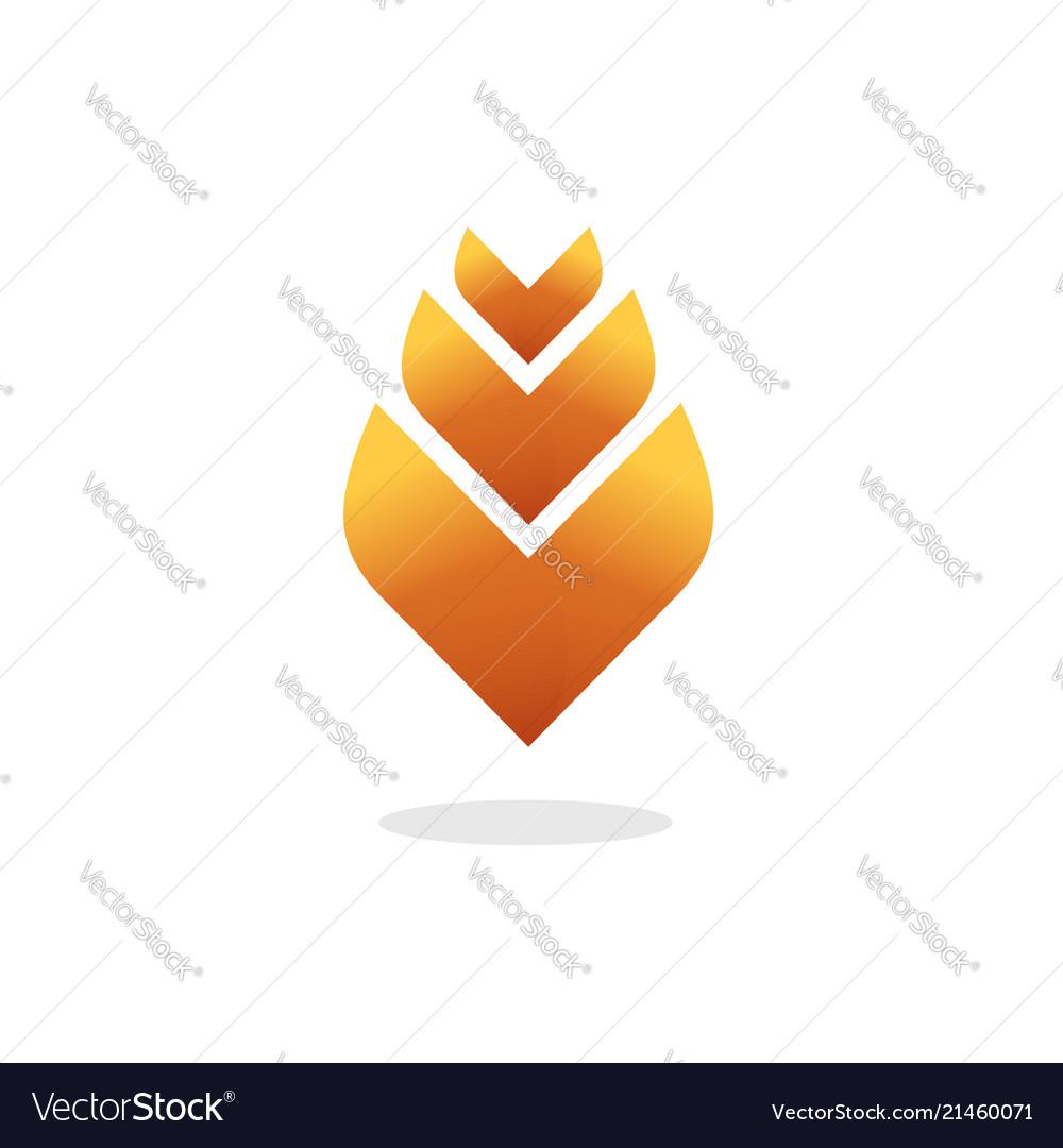 Flower logo elegant gradient