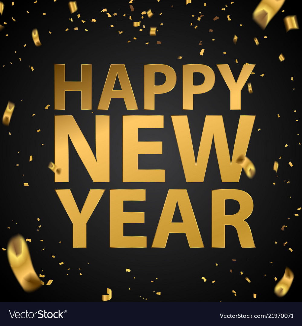 happy new year celebration background template vector image
