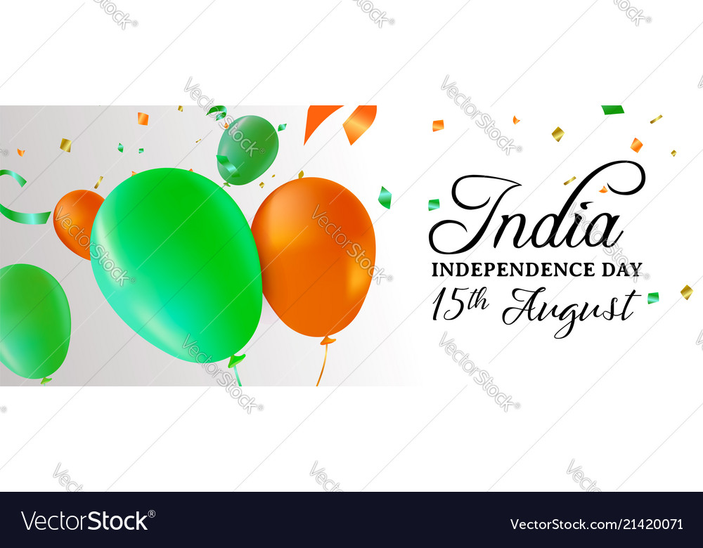 India independence day party balloon web banner