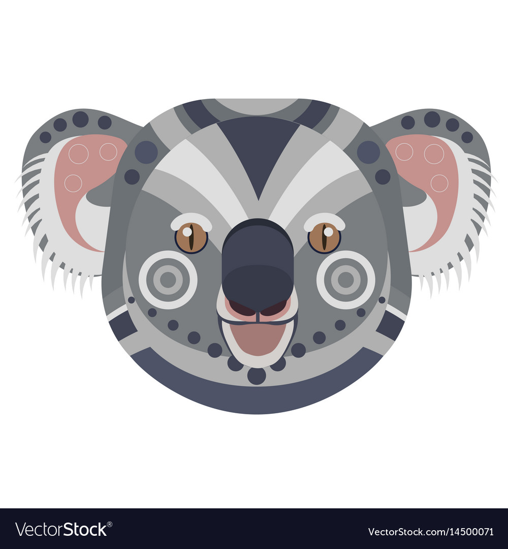Koala head logo exotic bear decorative