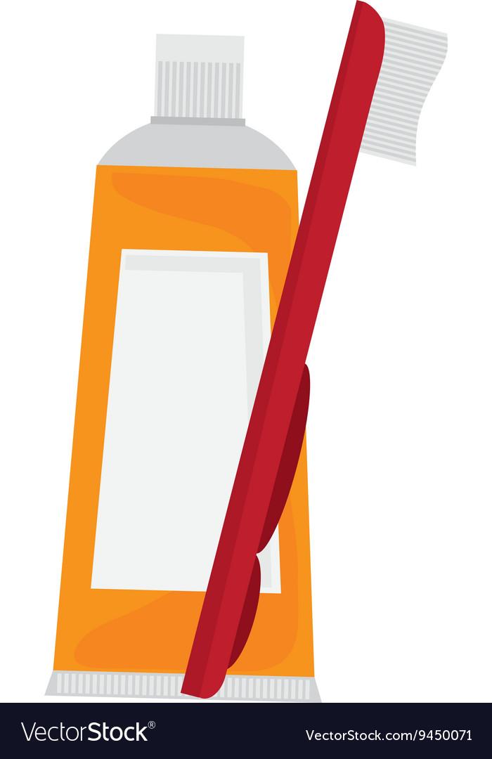 Yellow toothpaste icon