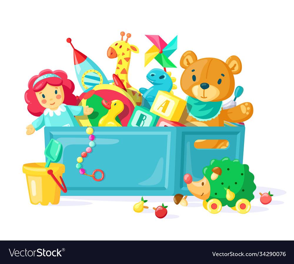 Baby toys in box children toys in plastic