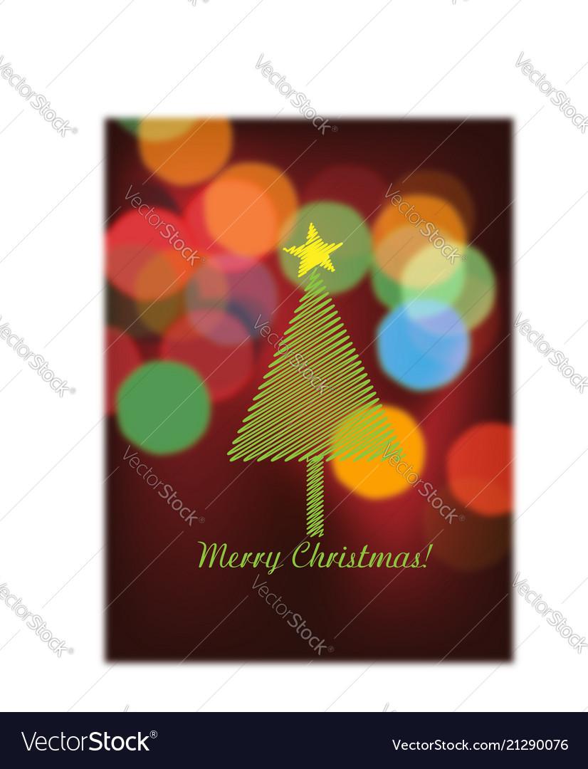Christmas tree and bokeh lights