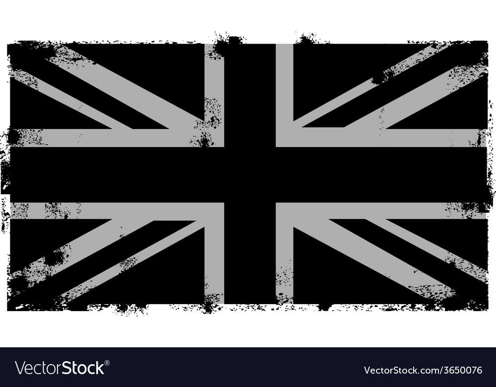 Grunge Black British Background