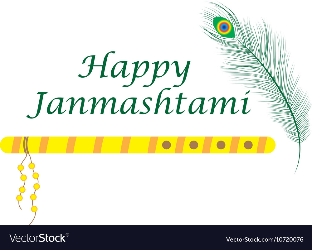 Happy janmashtami Indian feast of the birth