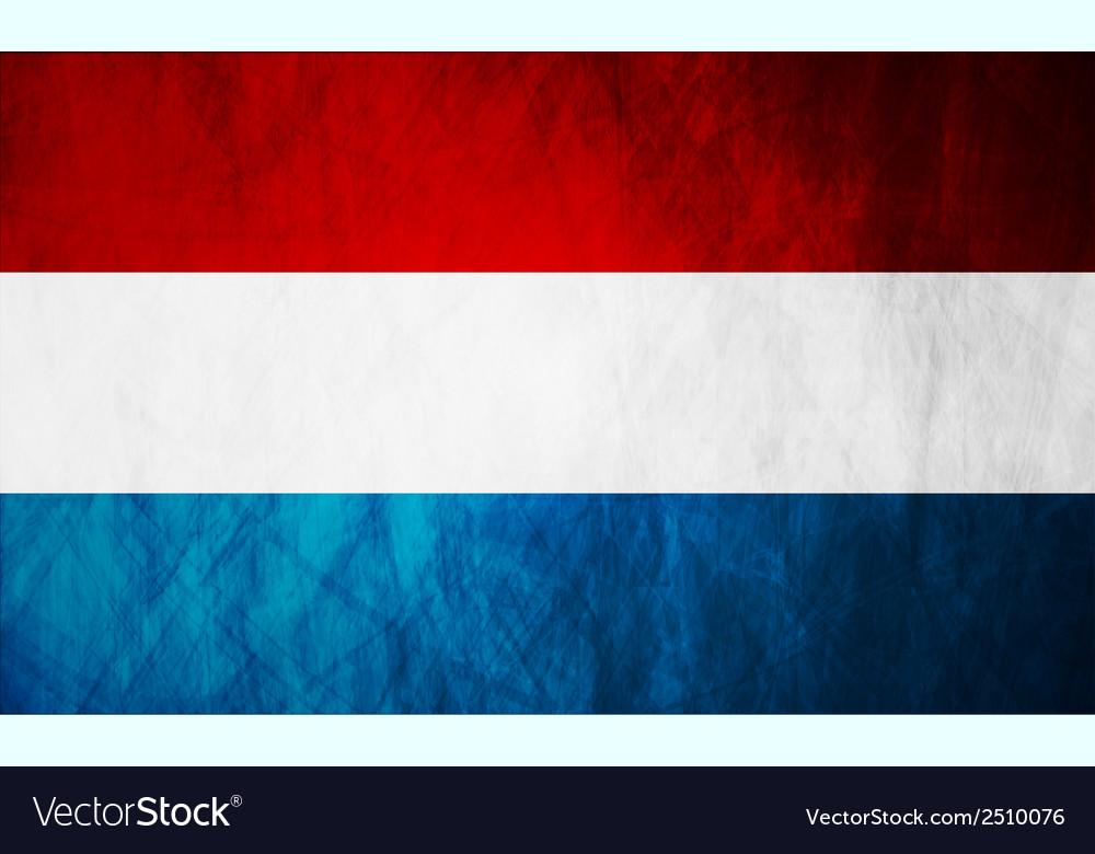 Netherlands grunge flag vector image