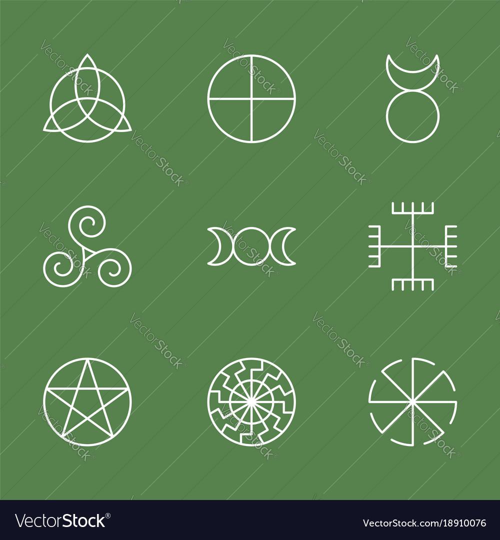 Pagan ancient symbols mystery sacred icons
