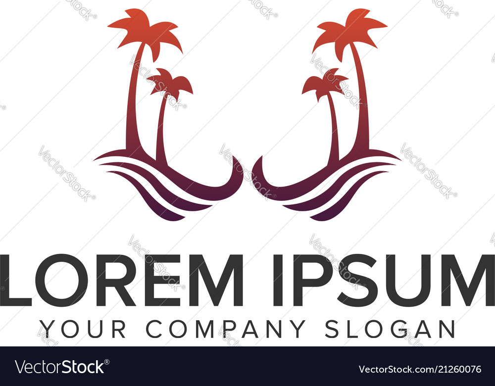 Palm tree logo holiday logo