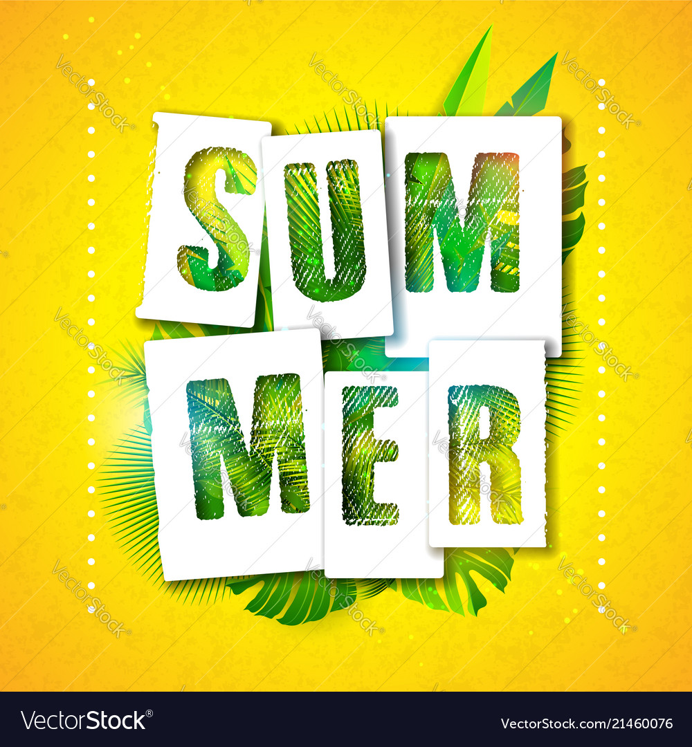 Summer holiday typographic