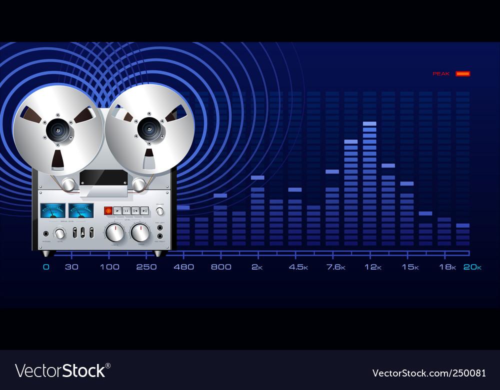 Analog recorder vector image