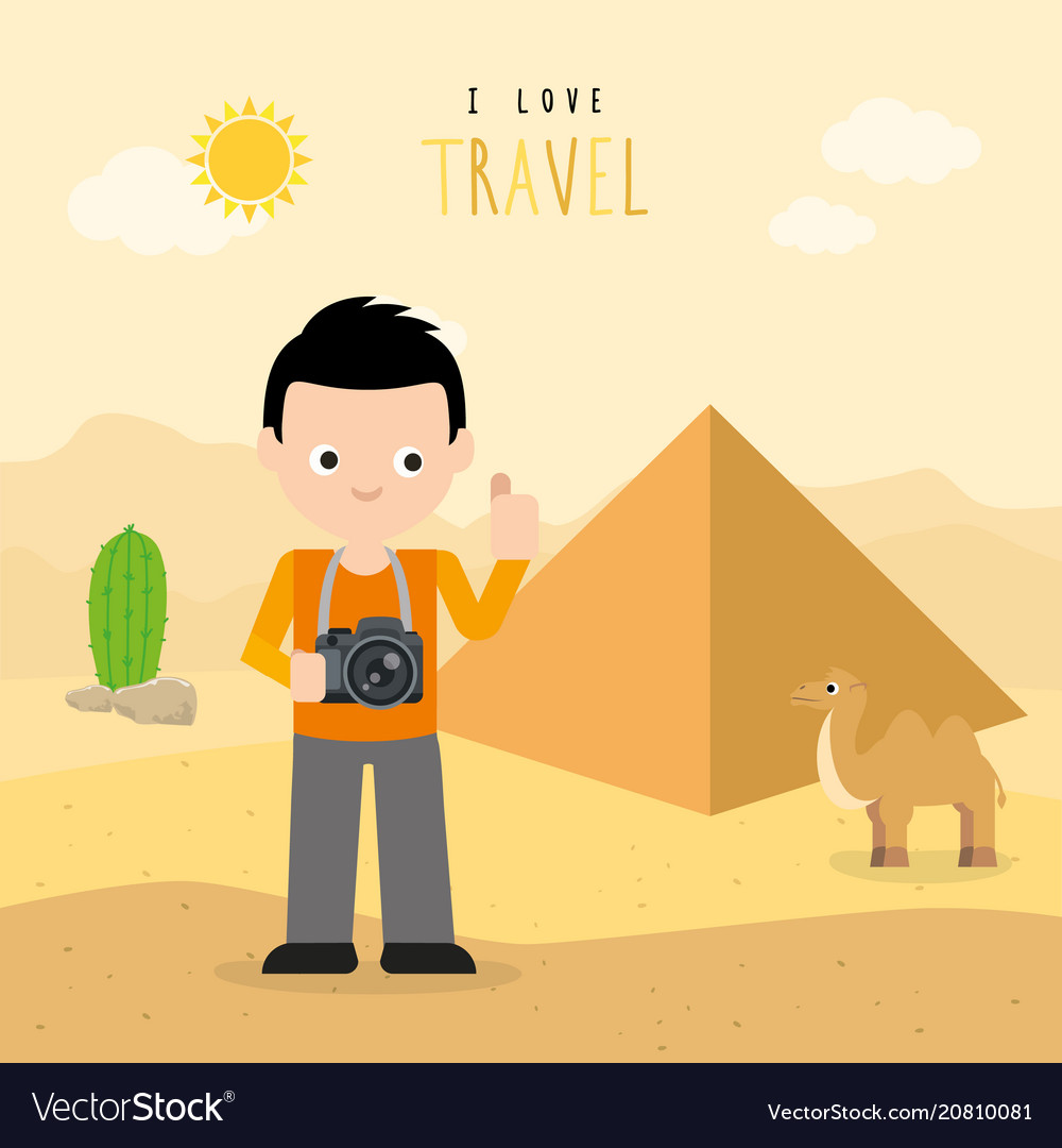 Boy travel egypt country holiday summer