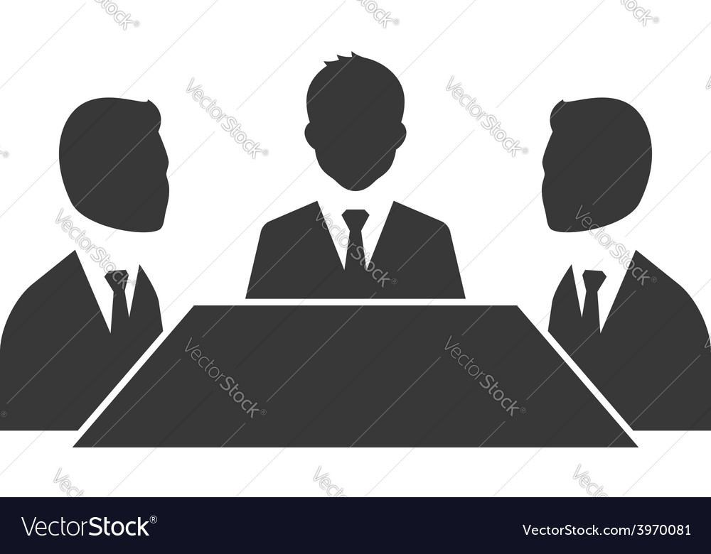 Business meeting symbol isolated on white vector image