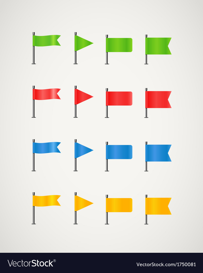 Collection of different color flags
