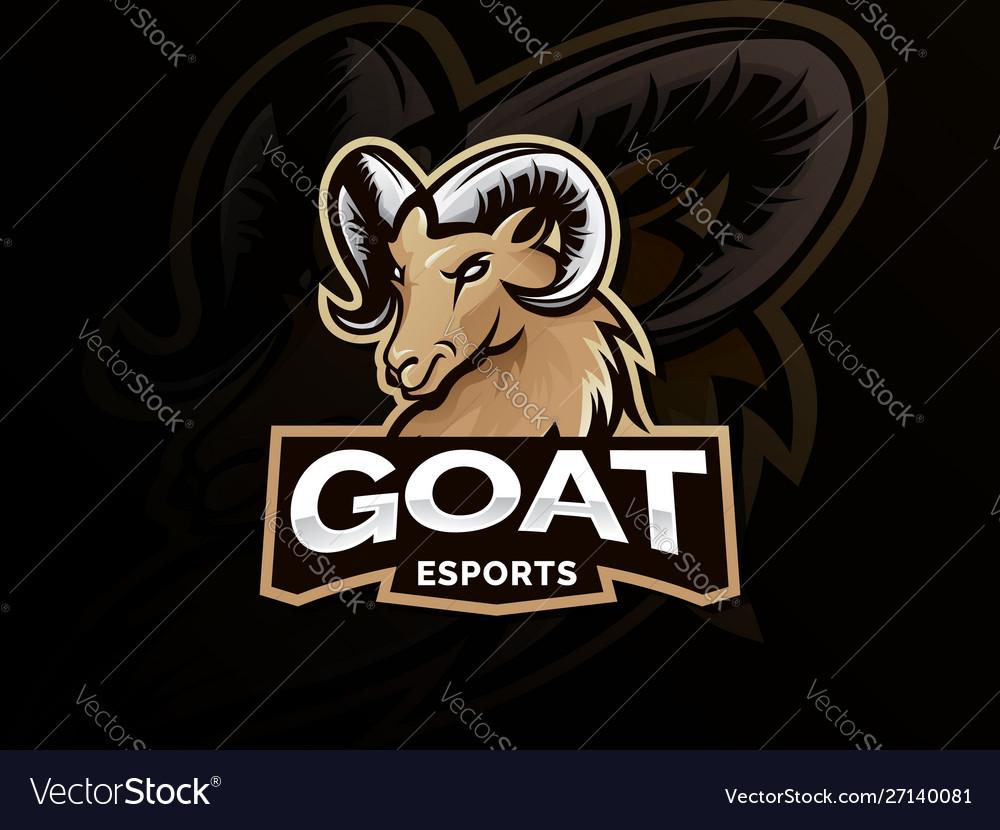 Goat sport logo mascot
