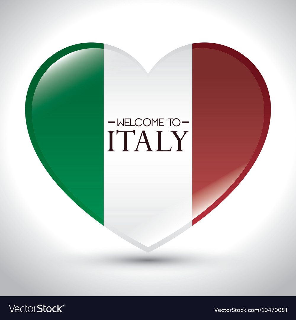 Italy flag isolated icon
