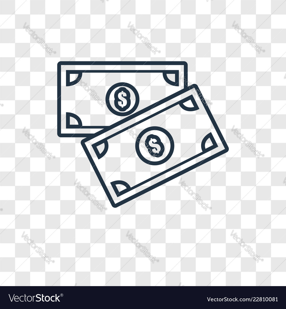 Money Concept Linear Icon Isolated On Transparent Vector Image Please use and share these clipart pictures with your friends. vectorstock