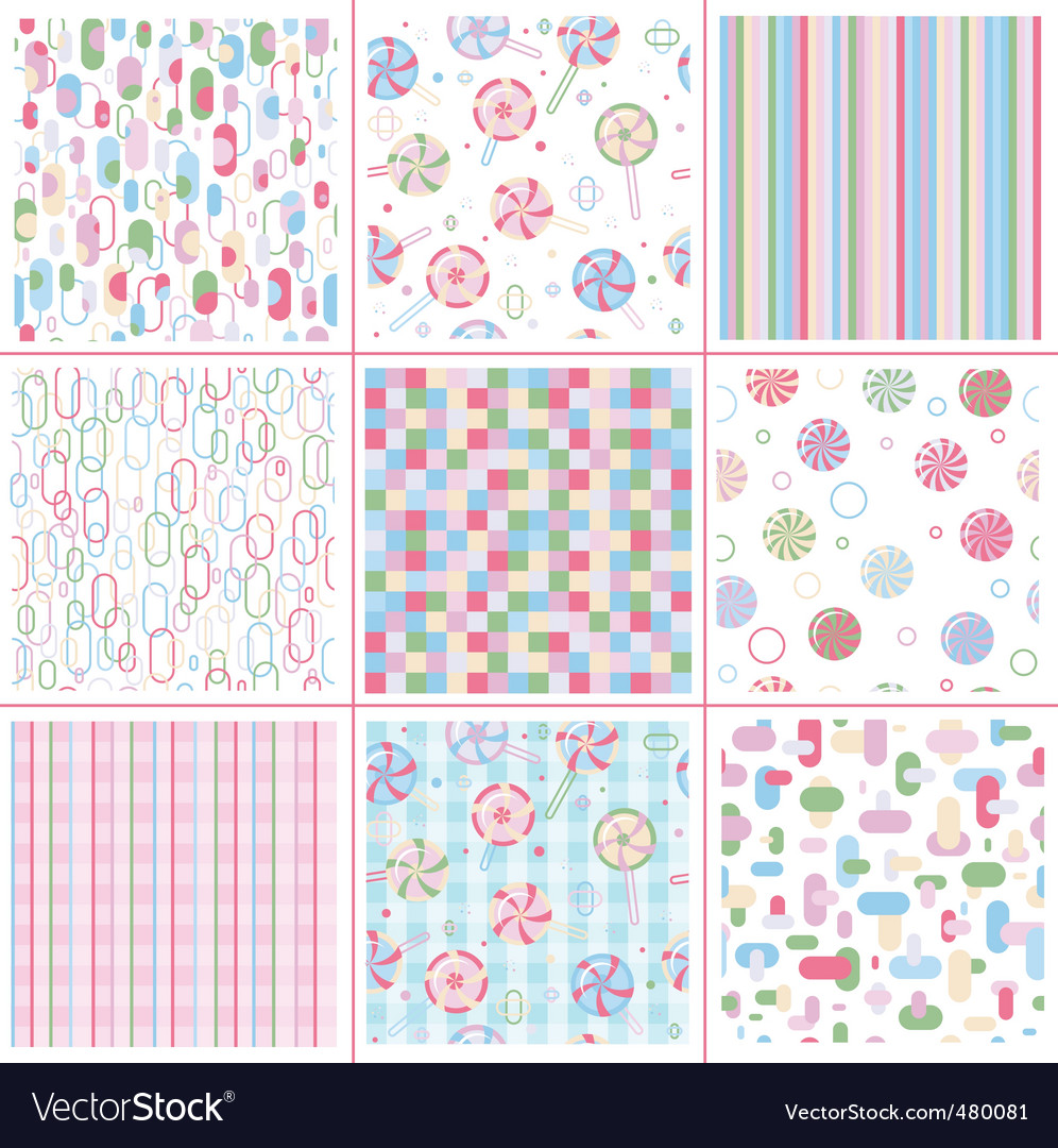 Sweet patterns vector image