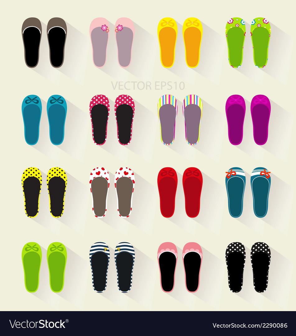 Ballerina shoes flat colorful set