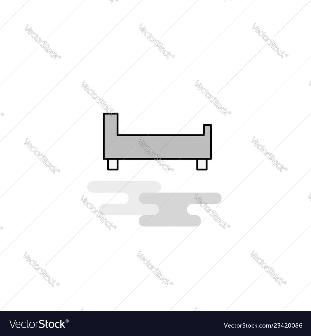 Bed web icon flat line filled gray icon