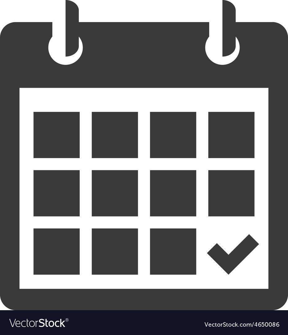 calendar icon royalty free vector image vectorstock rh vectorstock com google calendar icon vector calendar date icon vector