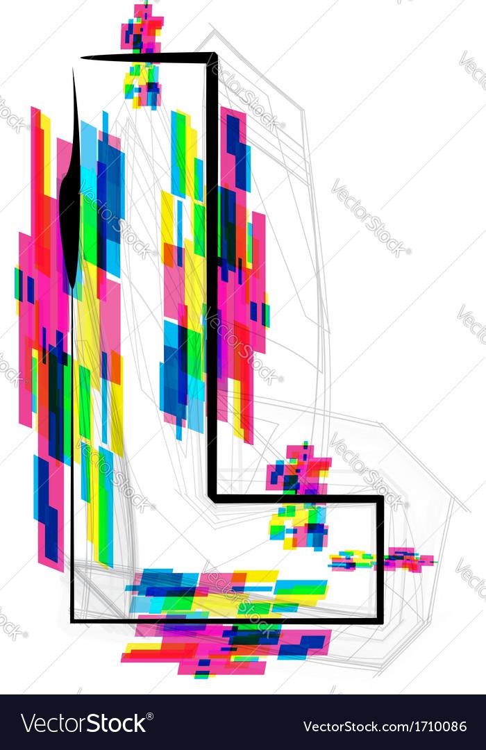 Colorful Font Letter L vector image