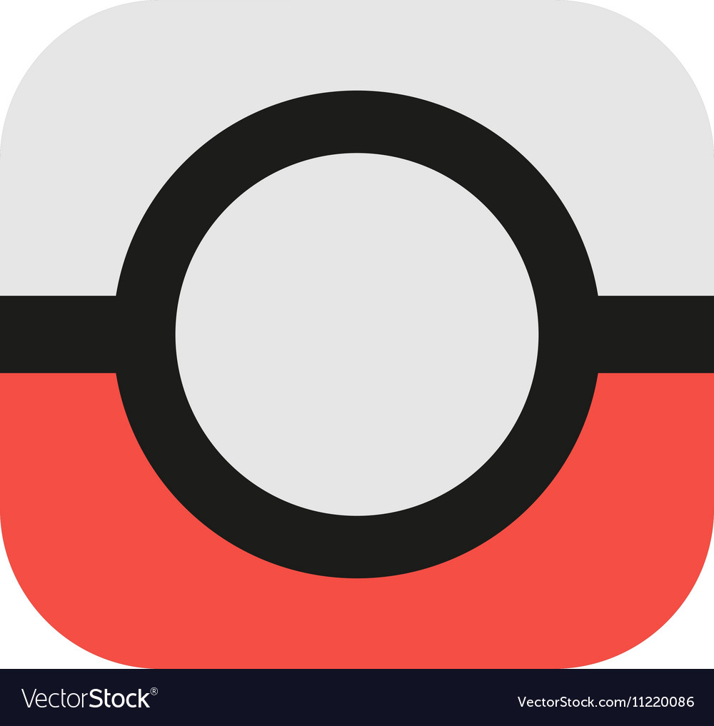 Isolated abstract red and grey color camera logo