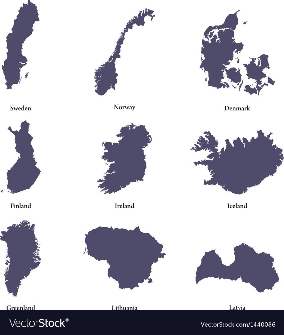 Northen Europe vector image