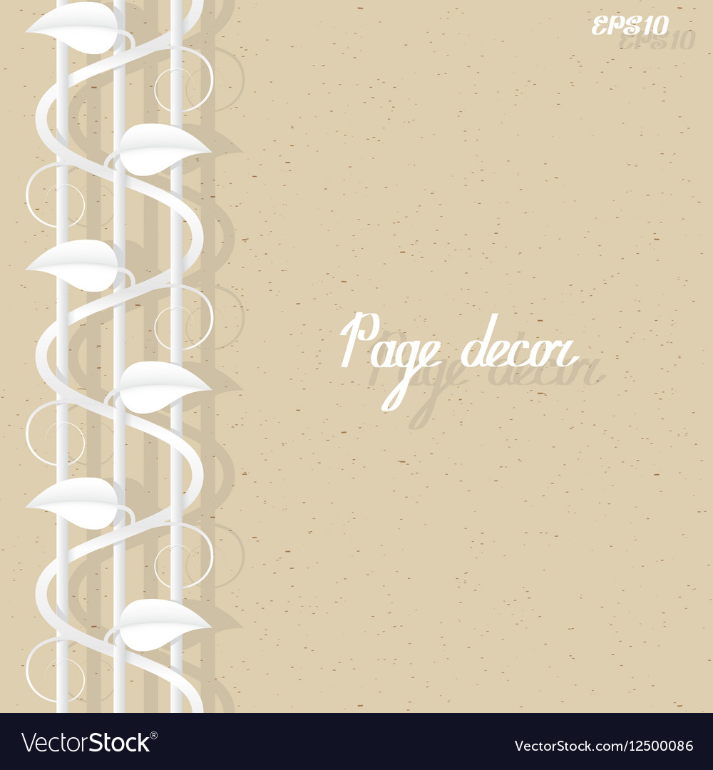 Page border decor template