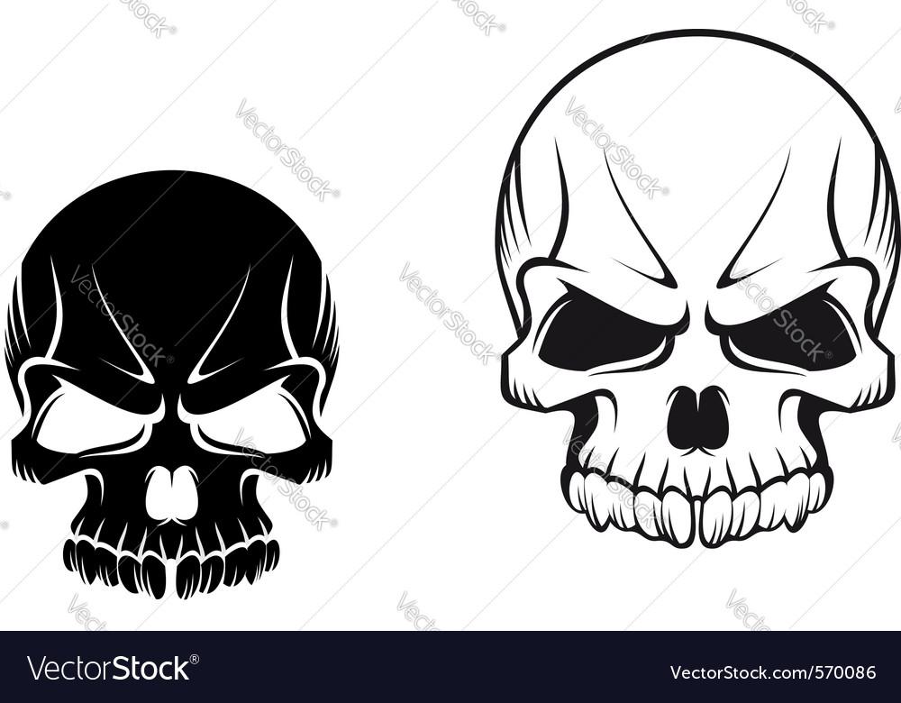 skulls royalty free vector image vectorstock rh vectorstock com free download skull vector vector skulls t shirt