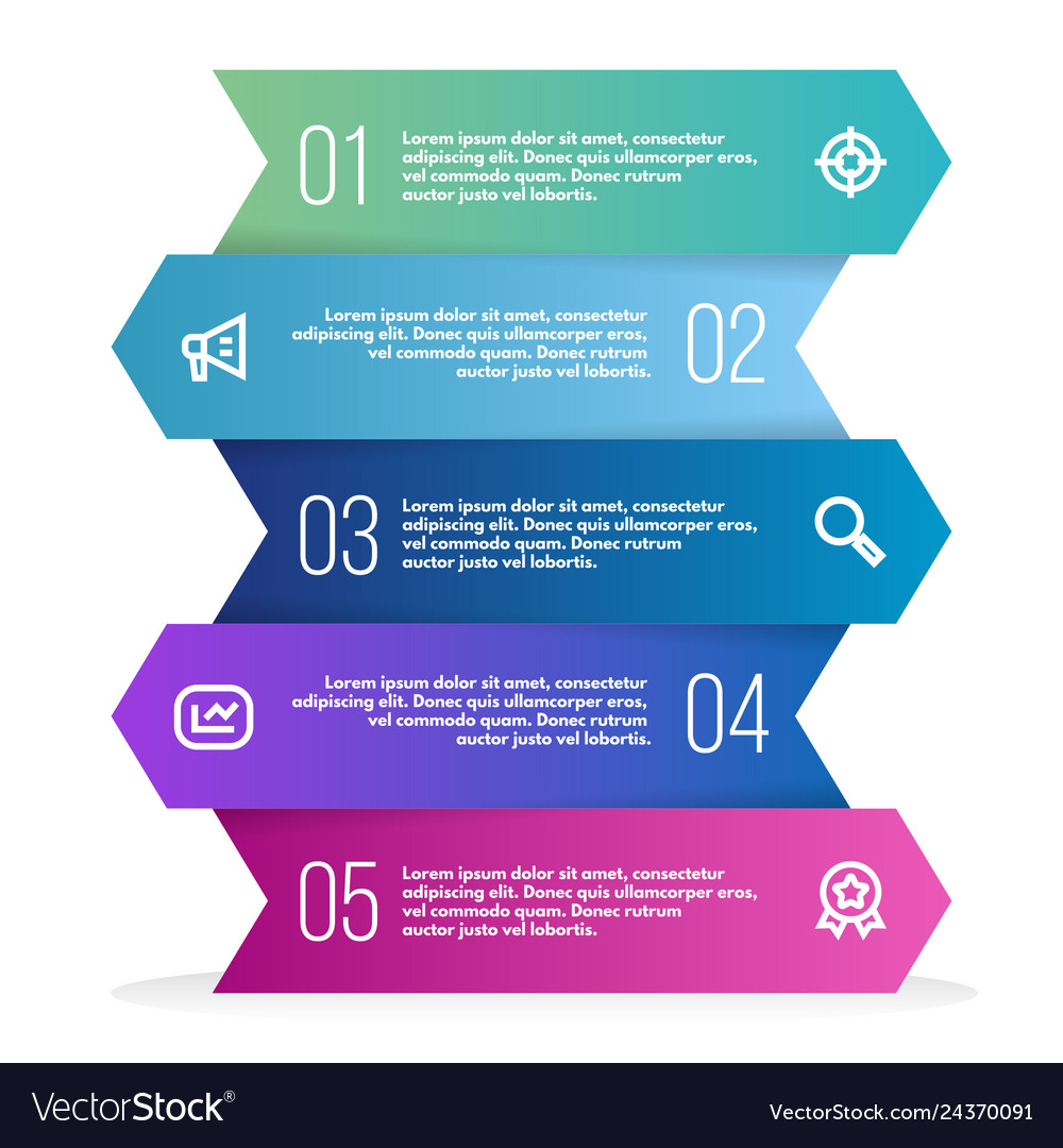 Abstract 3d infographic template with a five steps
