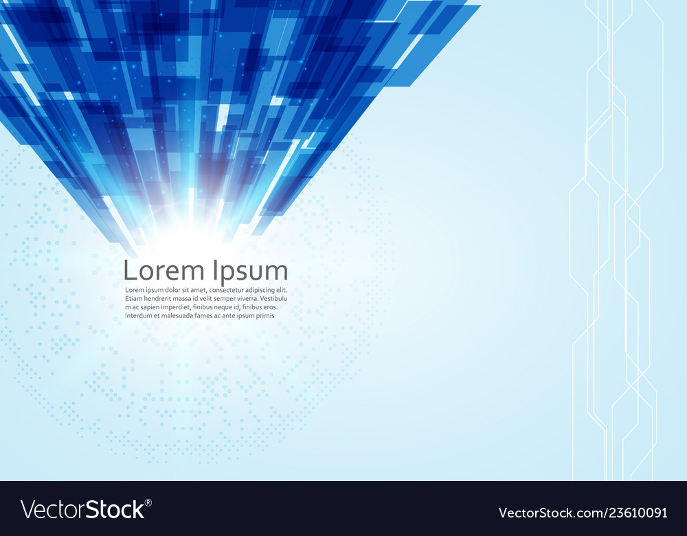 Abstract technology background blue line