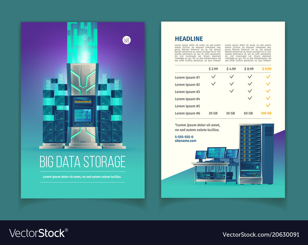 Brochure with data storage services