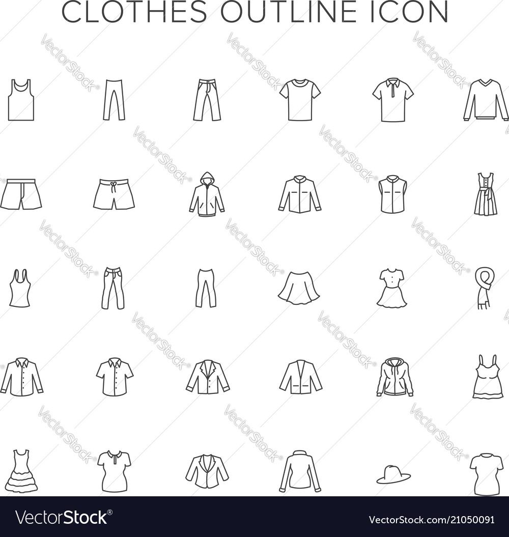 Clothes line icon set